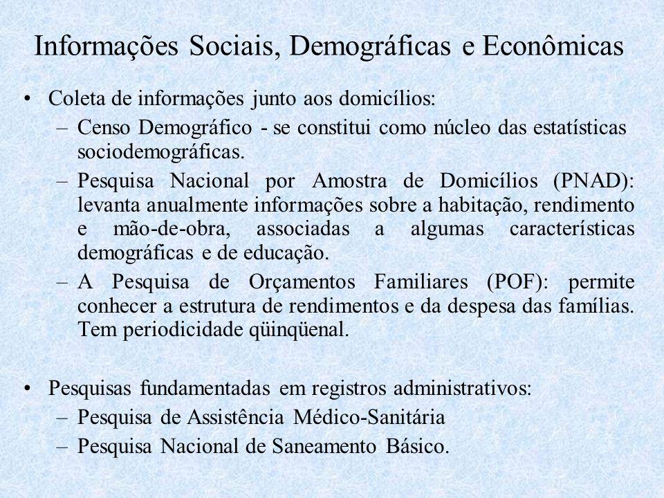 Informações Sociais, Demográficas e Econômicas