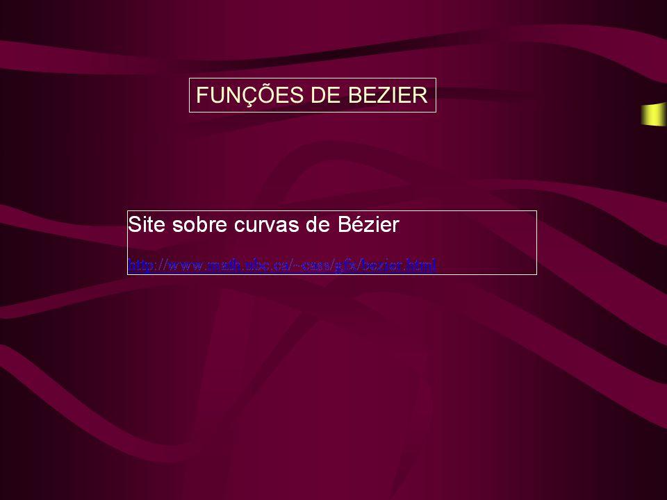 FUNÇÕES DE BEZIER
