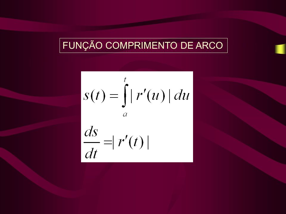 FUNÇÃO COMPRIMENTO DE ARCO