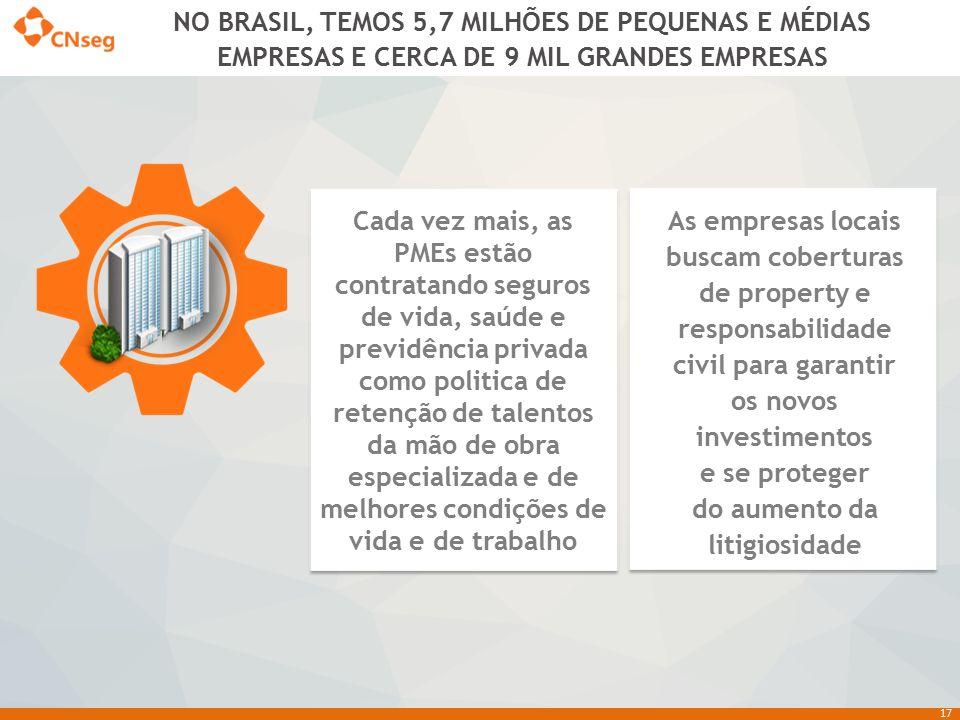 NO BRASIL, TEMOS 5,7 MILHÕES DE PEQUENAS E MÉDIAS EMPRESAS E CERCA DE 9 MIL GRANDES EMPRESAS