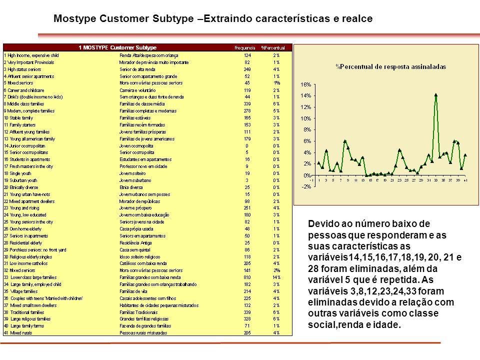 Mostype Customer Subtype –Extraindo características e realce