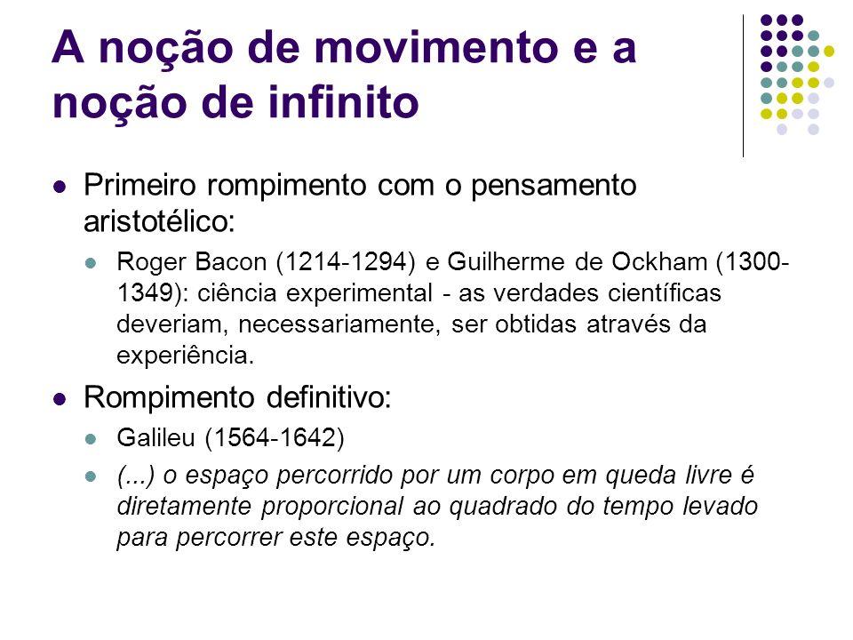 A noção de movimento e a noção de infinito