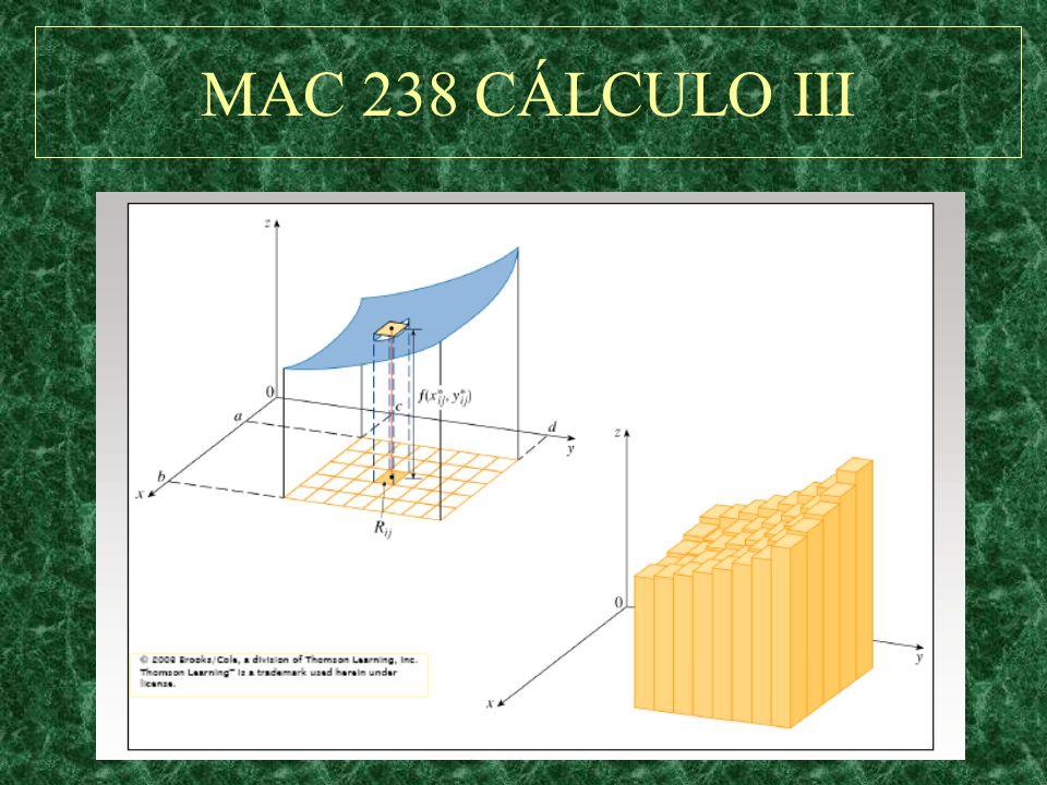 MAC 238 CÁLCULO III