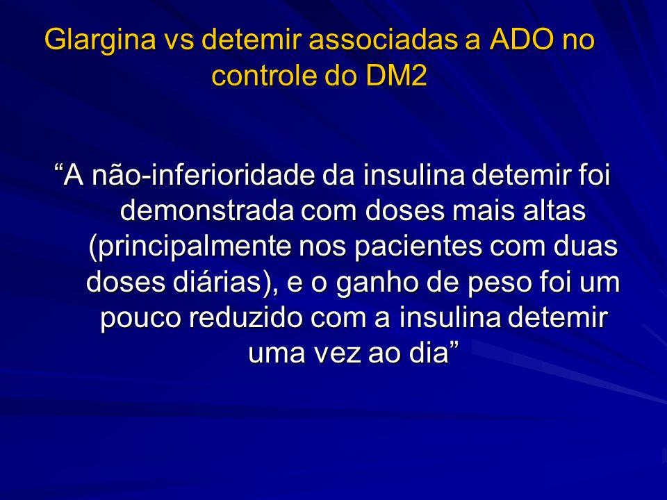 Glargina vs detemir associadas a ADO no controle do DM2