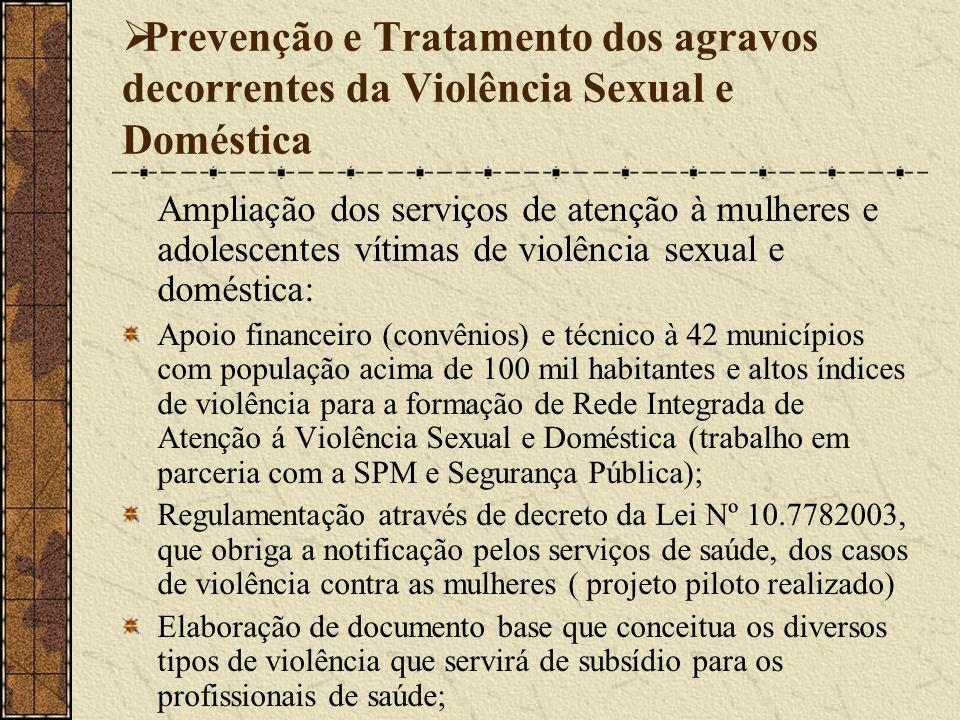 Prevenção e Tratamento dos agravos decorrentes da Violência Sexual e Doméstica