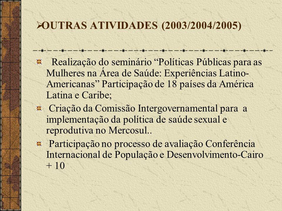 OUTRAS ATIVIDADES (2003/2004/2005)