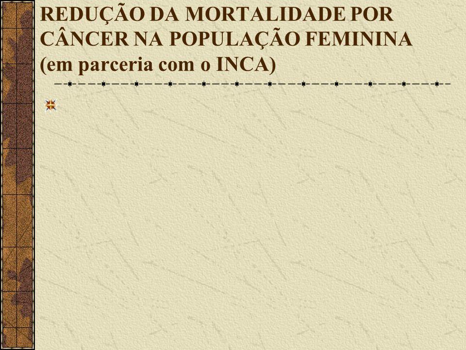 REDUÇÃO DA MORTALIDADE POR CÂNCER NA POPULAÇÃO FEMININA (em parceria com o INCA)