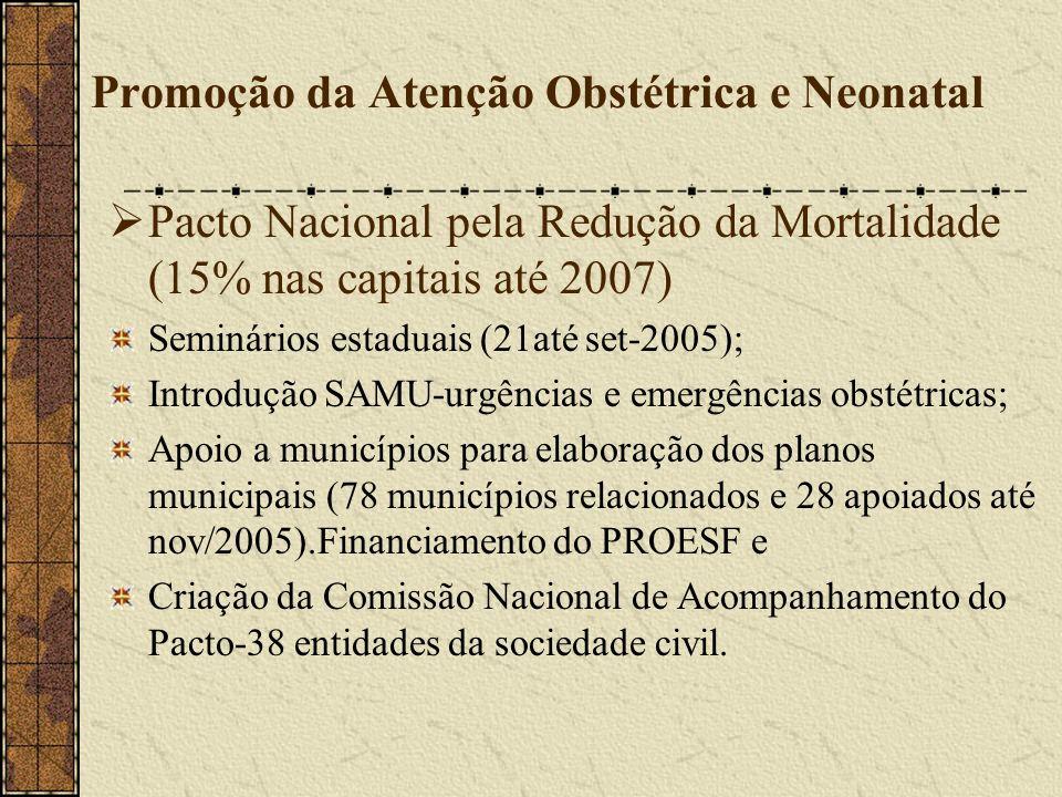 Promoção da Atenção Obstétrica e Neonatal