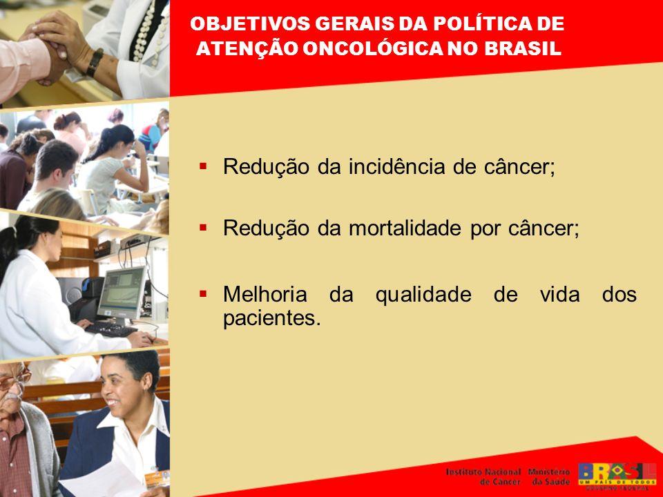 OBJETIVOS GERAIS DA POLÍTICA DE ATENÇÃO ONCOLÓGICA NO BRASIL