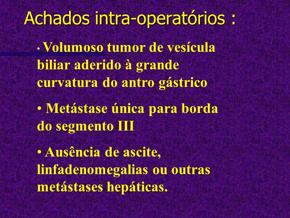 Achados intra-operatórios :