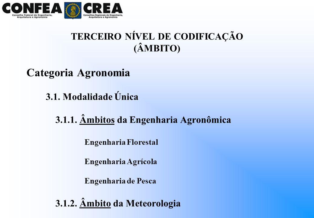 TERCEIRO NÍVEL DE CODIFICAÇÃO