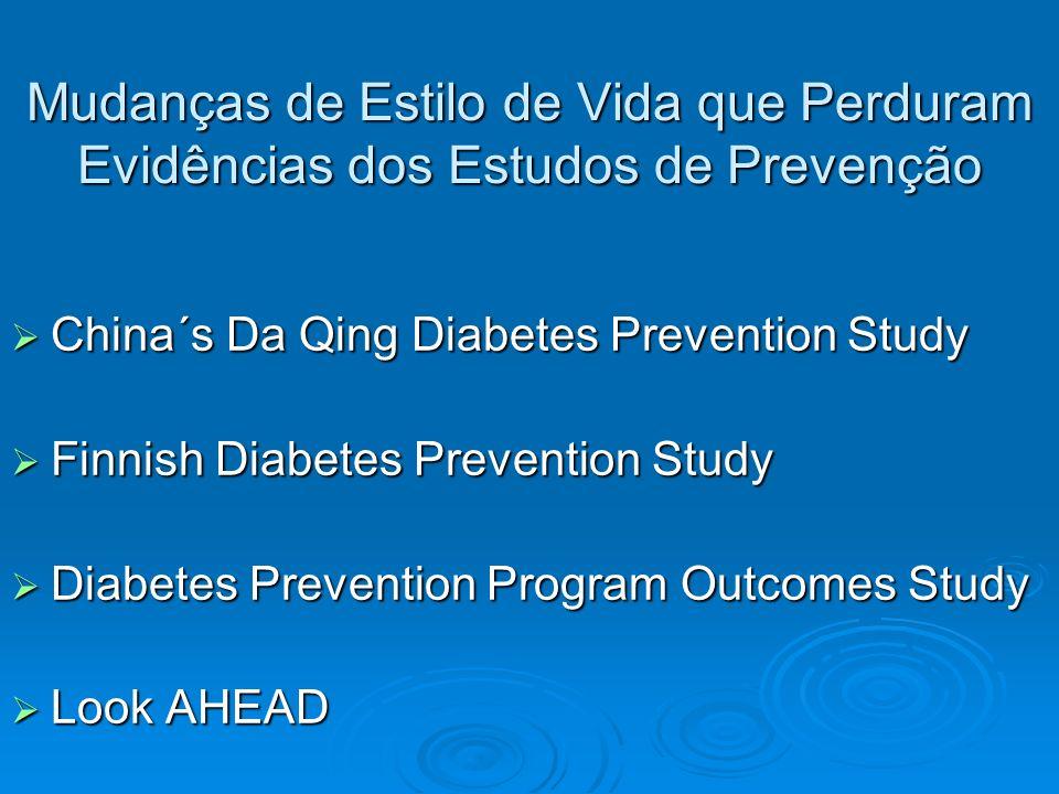 Mudanças de Estilo de Vida que Perduram Evidências dos Estudos de Prevenção