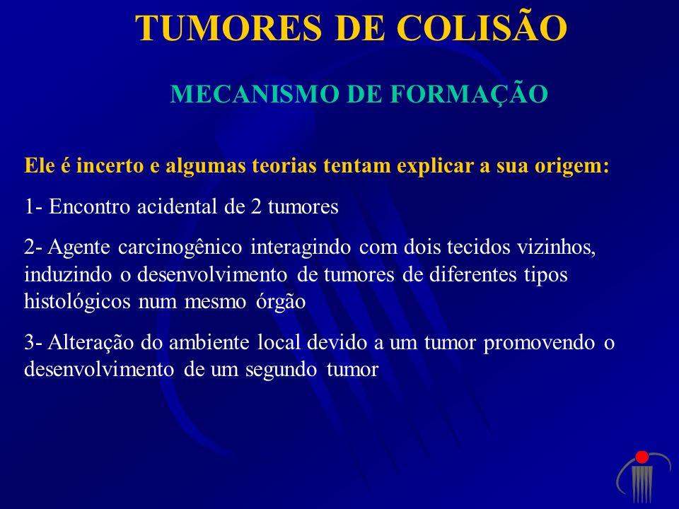 TUMORES DE COLISÃO MECANISMO DE FORMAÇÃO