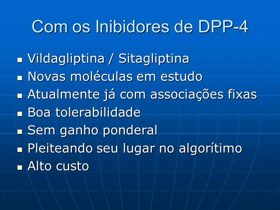 Com os Inibidores de DPP-4