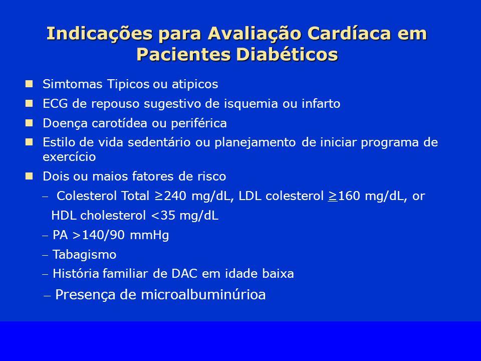 Indicações para Avaliação Cardíaca em Pacientes Diabéticos