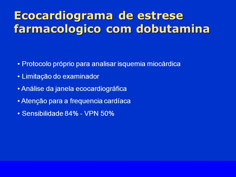 Ecocardiograma de estrese farmacologico com dobutamina