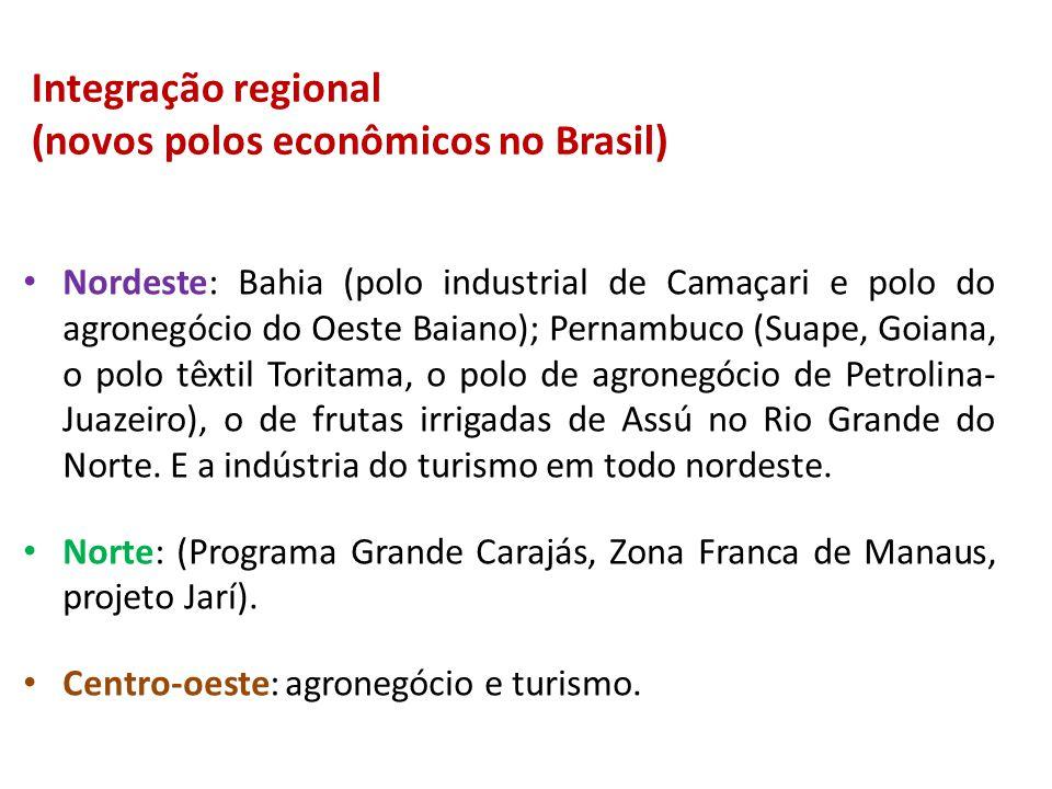 Integração regional (novos polos econômicos no Brasil)