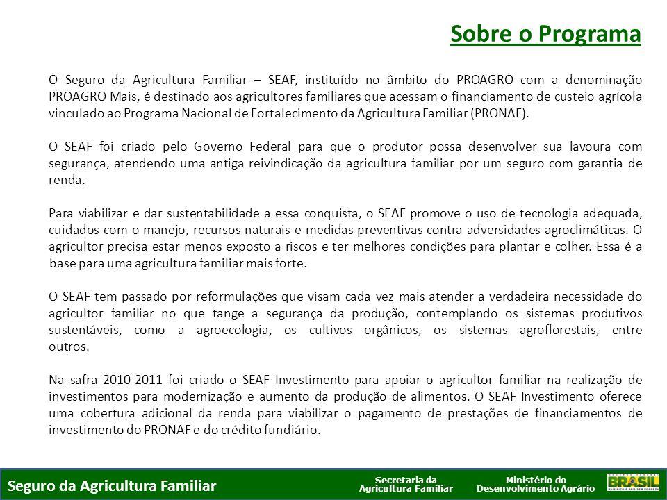Sobre o Programa Seguro da Agricultura Familiar
