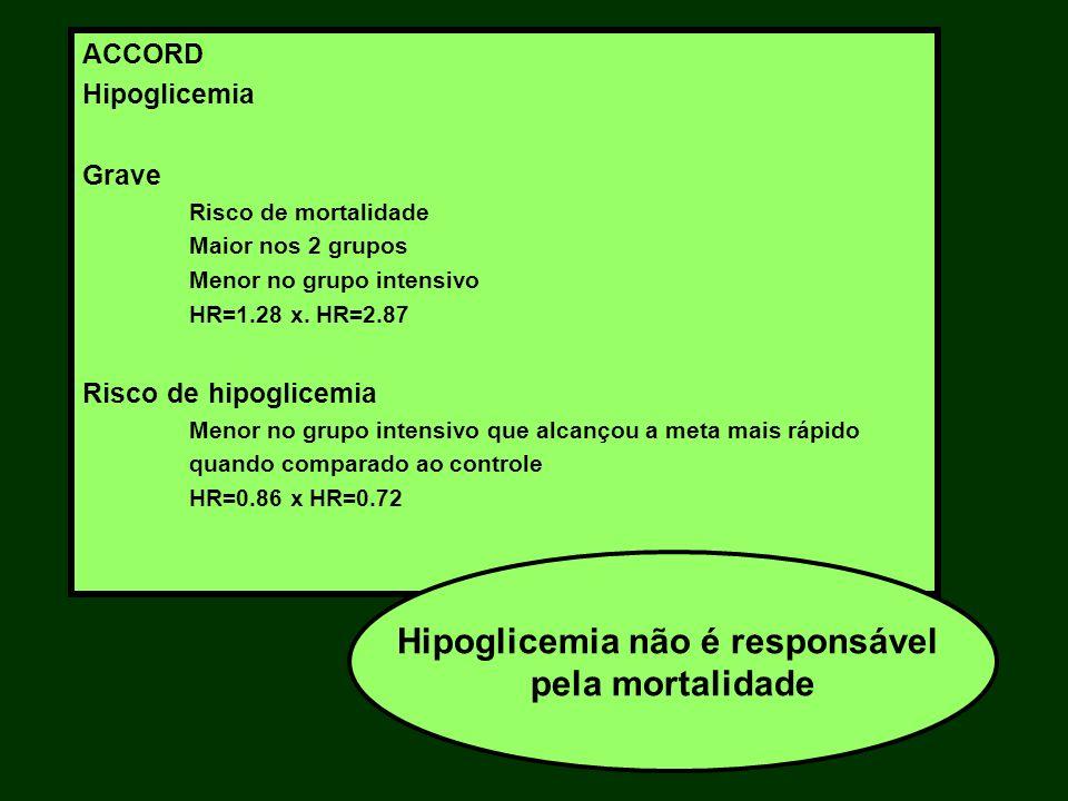 Hipoglicemia não é responsável