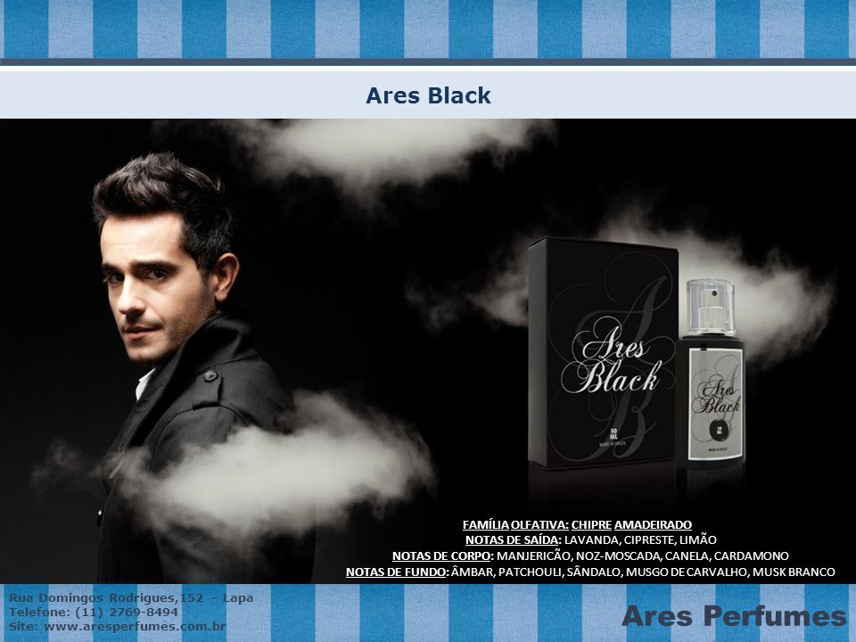 Ares Black FAMÍLIA OLFATIVA: CHIPRE AMADEIRADO