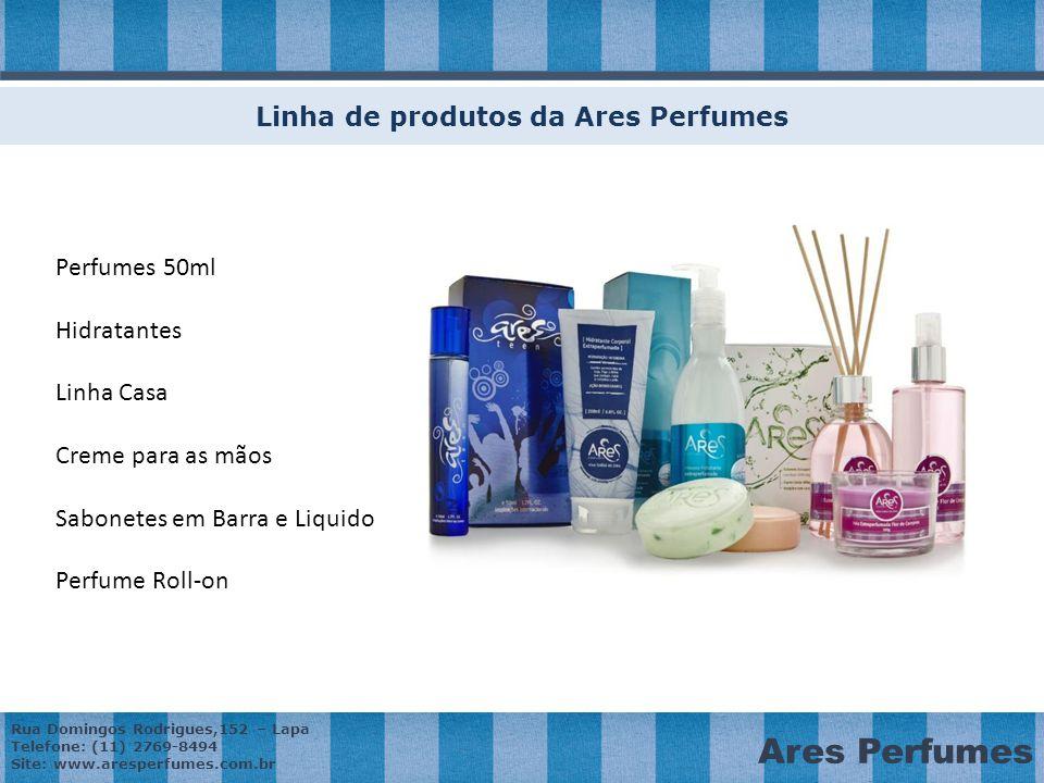 Linha de produtos da Ares Perfumes