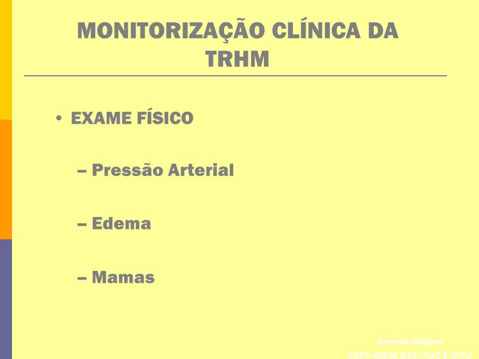 MONITORIZAÇÃO CLÍNICA DA TRHM