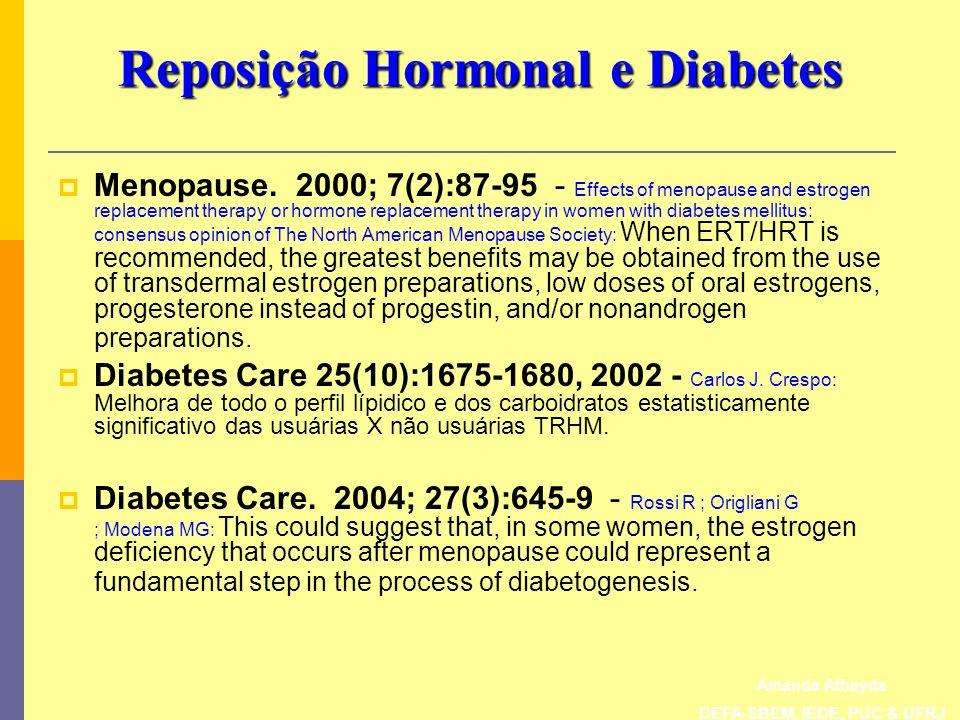 Reposição Hormonal e Diabetes