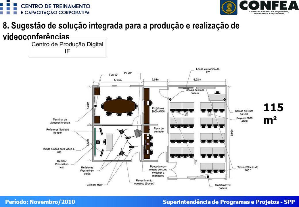 8. Sugestão de solução integrada para a produção e realização de videoconferências