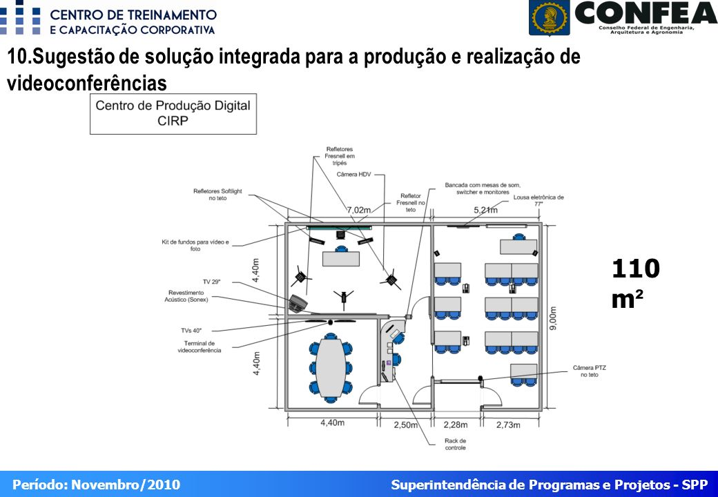 10.Sugestão de solução integrada para a produção e realização de videoconferências