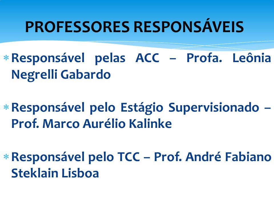 PROFESSORES RESPONSÁVEIS