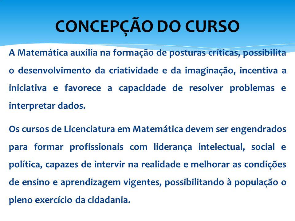 CONCEPÇÃO DO CURSO