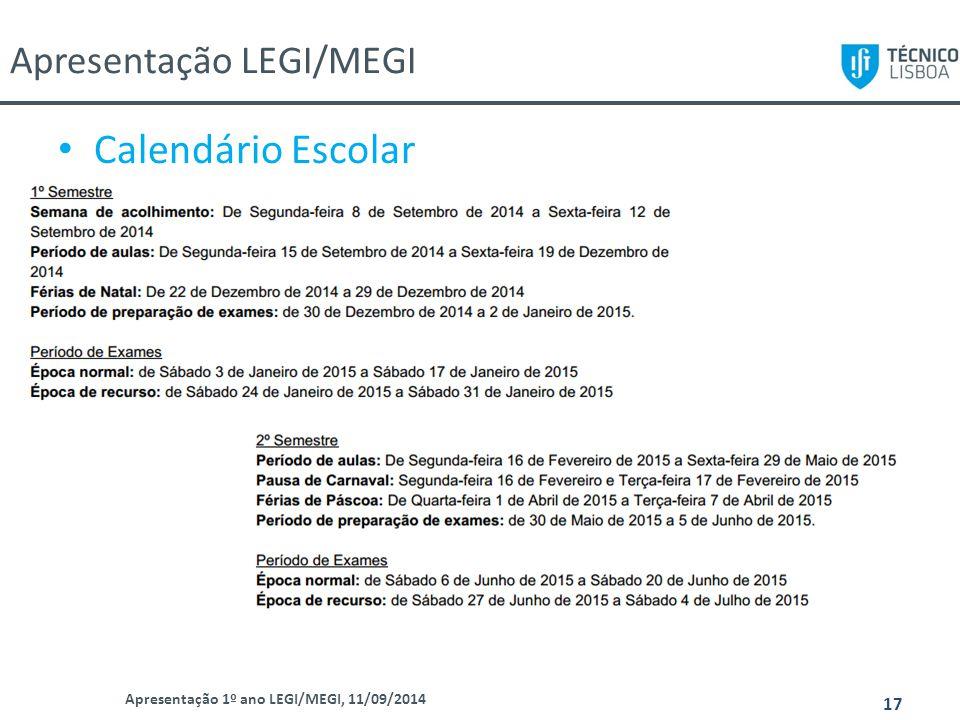 Apresentação LEGI/MEGI