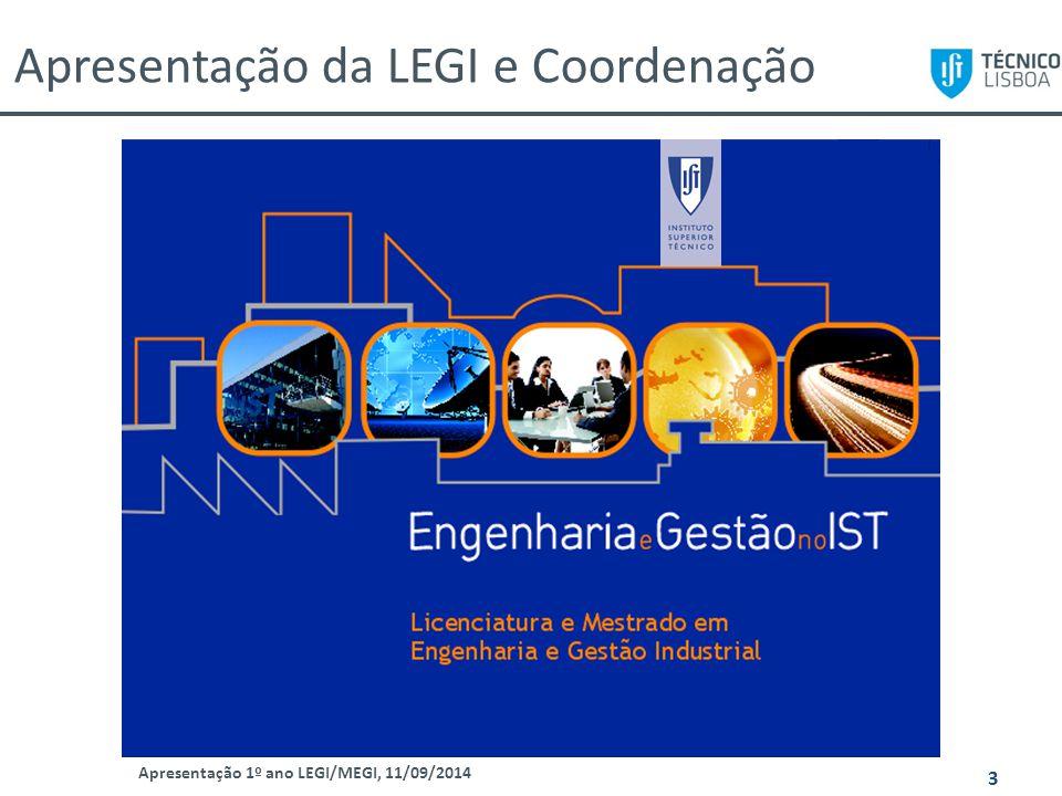 Apresentação da LEGI e Coordenação