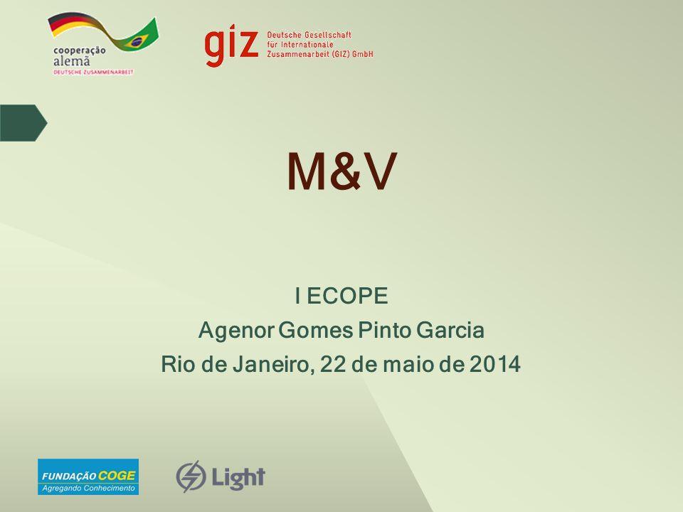 I ECOPE Agenor Gomes Pinto Garcia Rio de Janeiro, 22 de maio de 2014