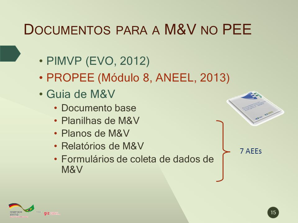 Documentos para a M&V no PEE