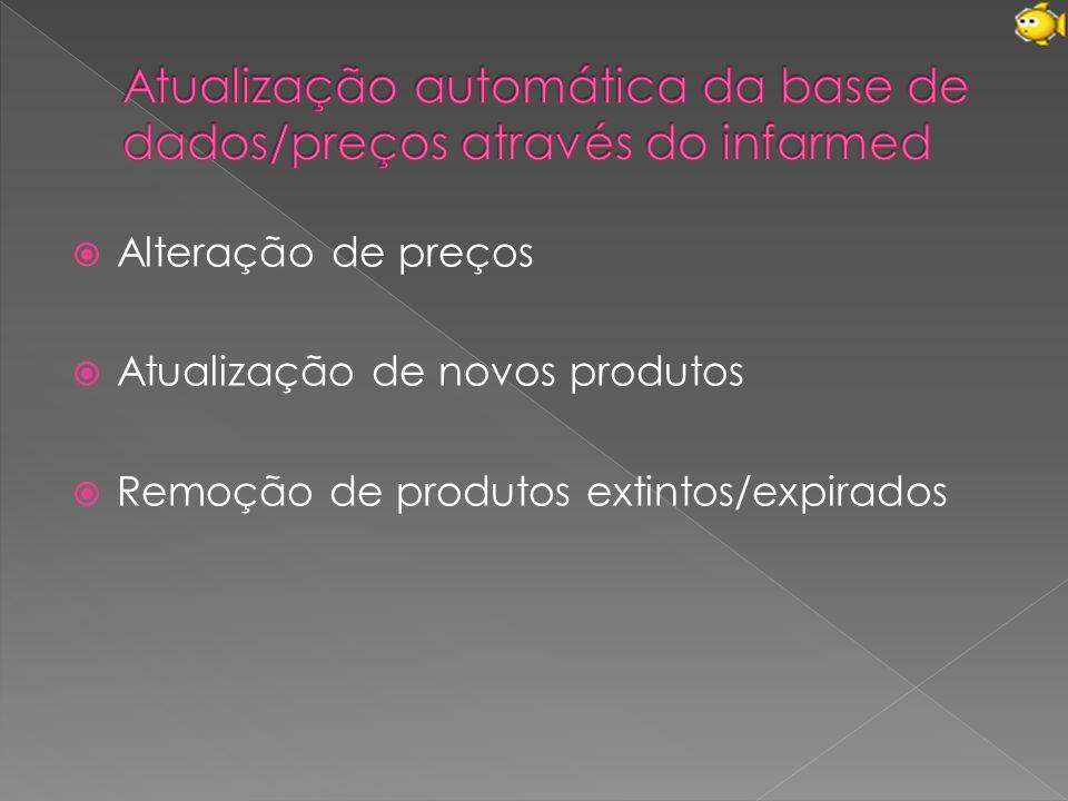 Atualização automática da base de dados/preços através do infarmed