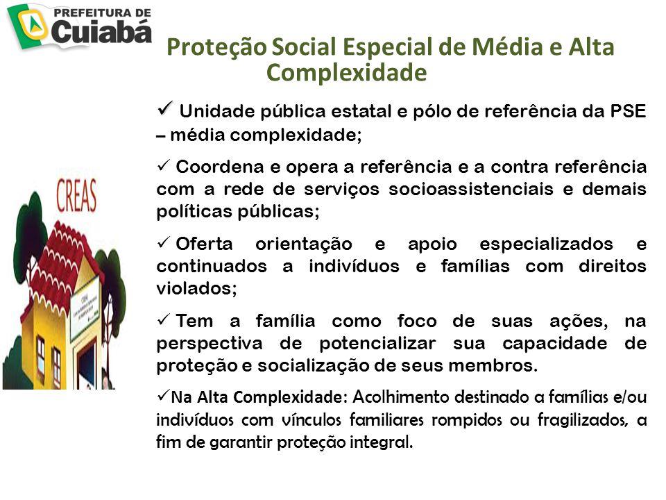 Proteção Social Especial de Média e Alta Complexidade