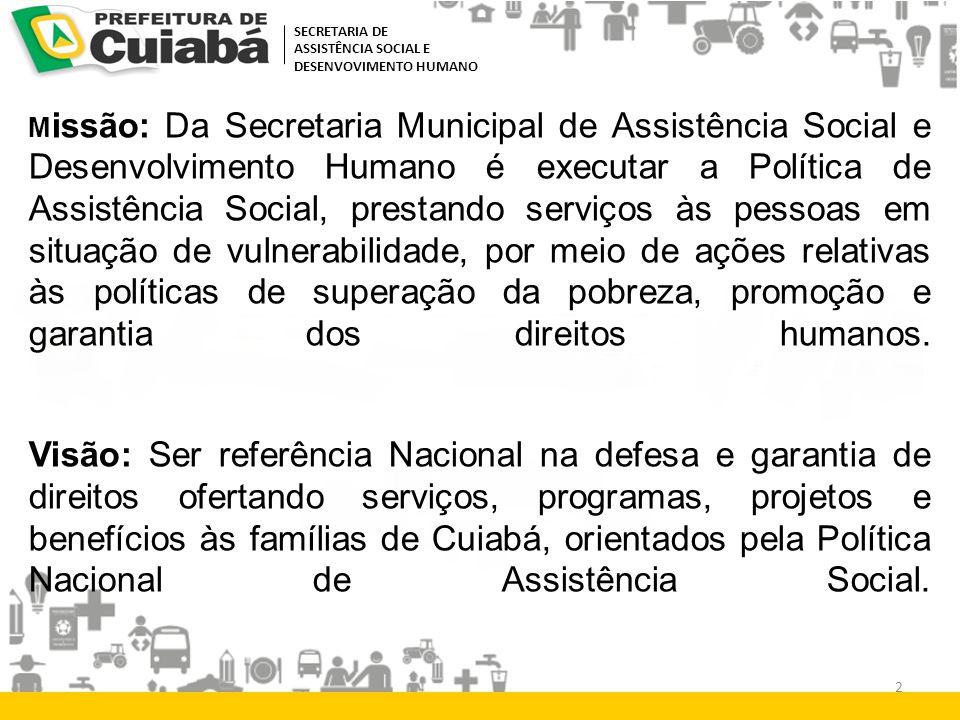 SECRETARIA DE ASSISTÊNCIA SOCIAL E. DESENVOVIMENTO HUMANO.