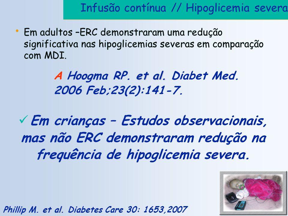 Infusão contínua // Hipoglicemia severa