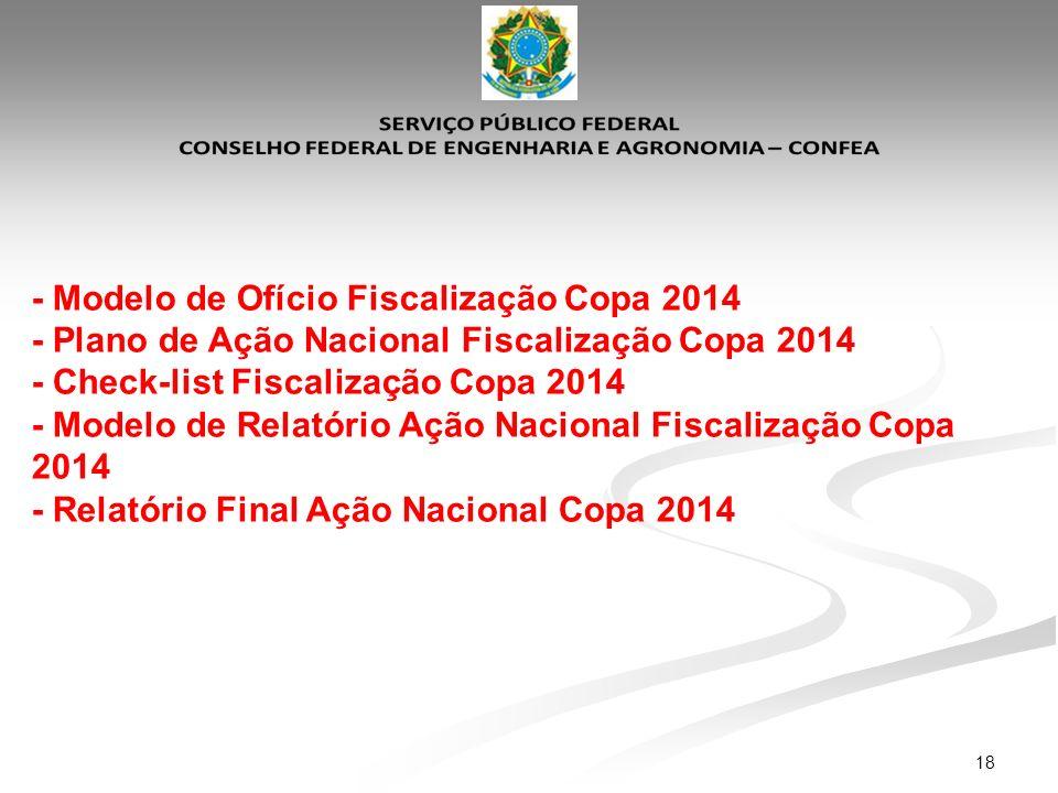 - Modelo de Ofício Fiscalização Copa 2014