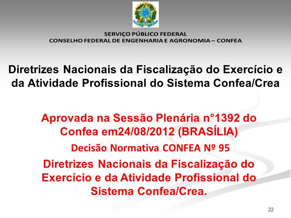 Aprovada na Sessão Plenária n°1392 do Confea em24/08/2012 (BRASÍLIA)