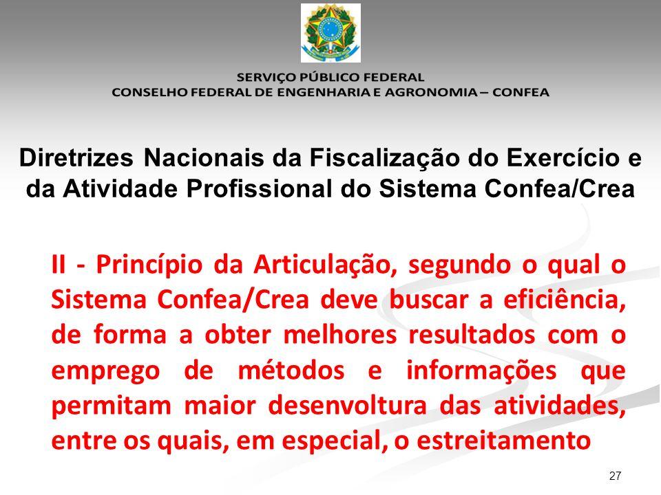 Diretrizes Nacionais da Fiscalização do Exercício e da Atividade Profissional do Sistema Confea/Crea