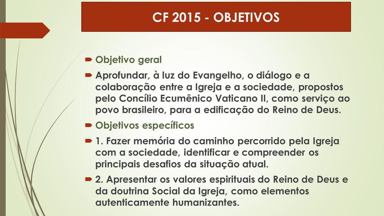 CF 2015 - OBJETIVOS Objetivo geral