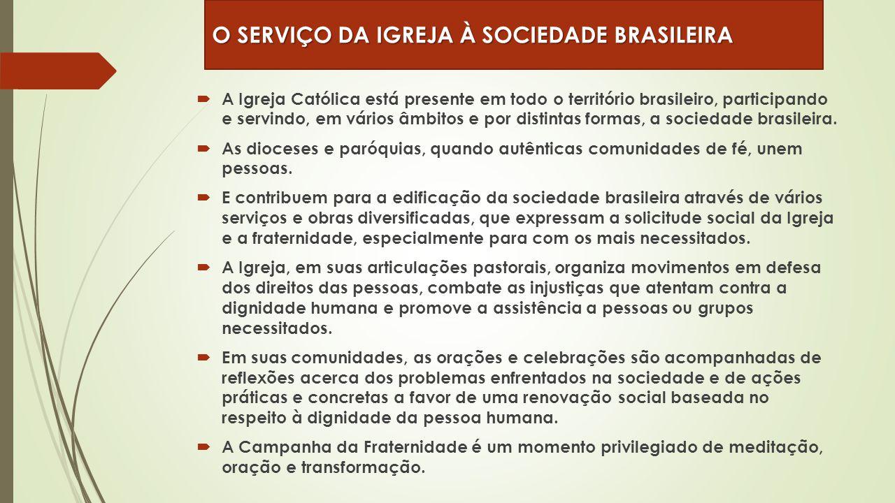 O SERVIÇO DA IGREJA À SOCIEDADE BRASILEIRA