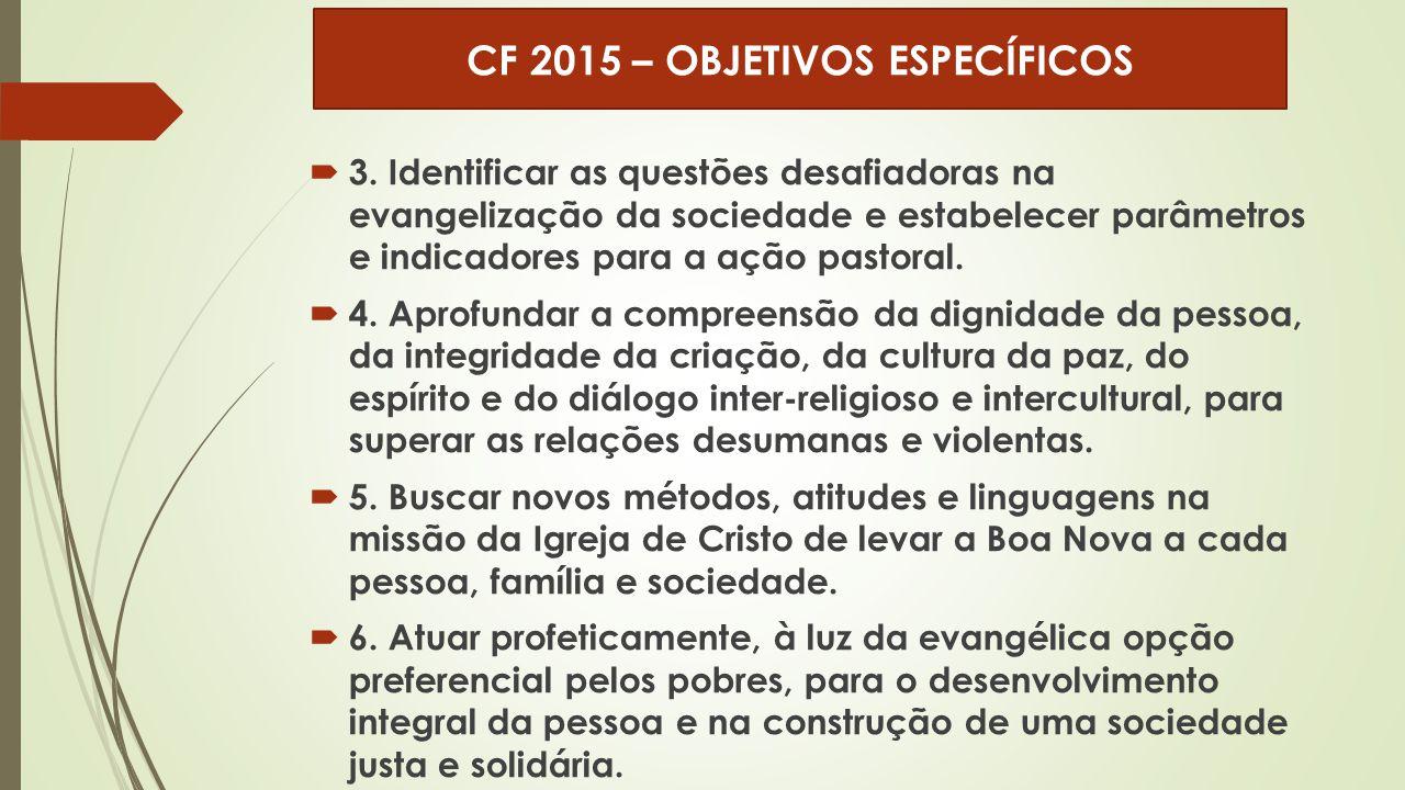 CF 2015 – OBJETIVOS ESPECÍFICOS
