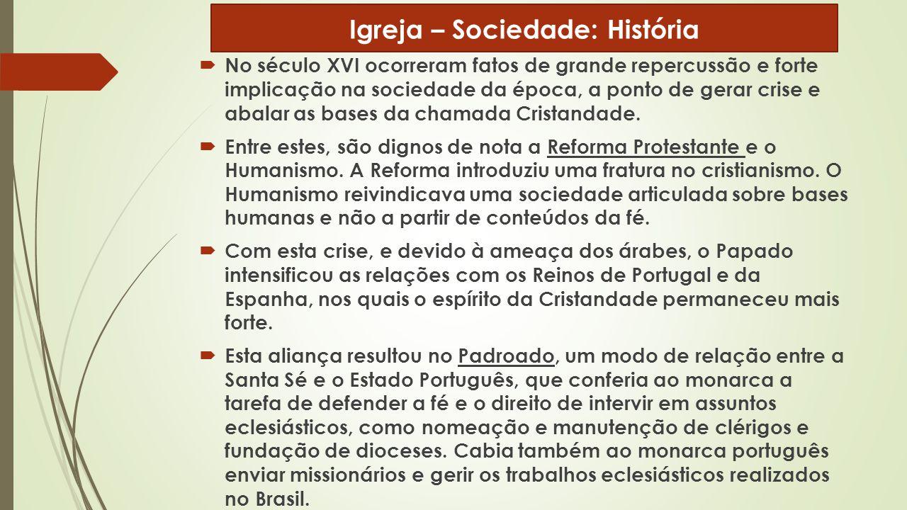 Igreja – Sociedade: História