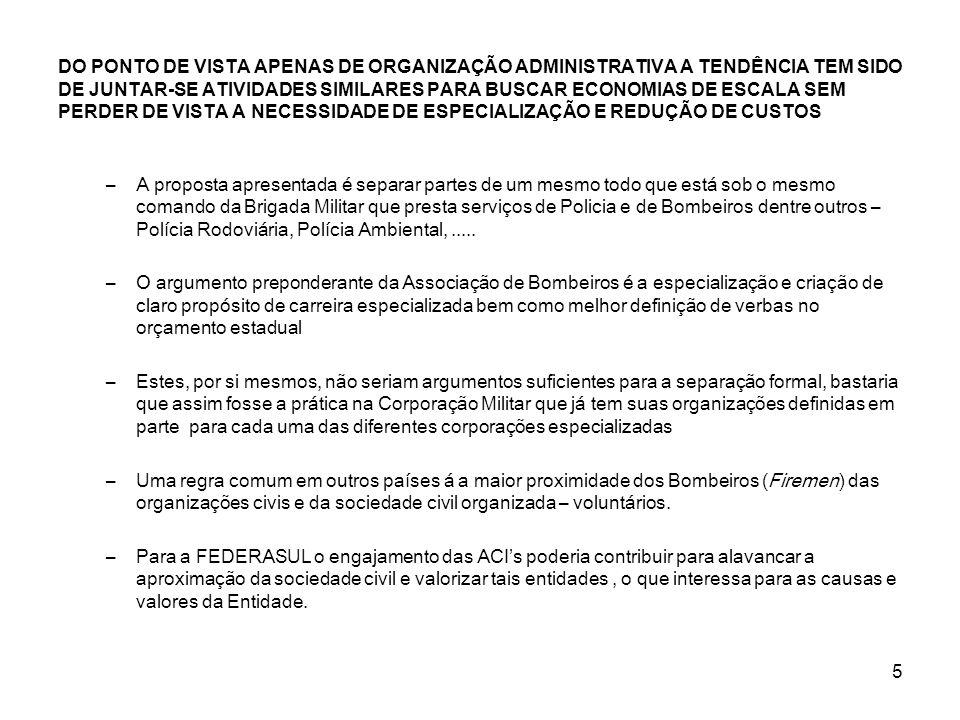 DO PONTO DE VISTA APENAS DE ORGANIZAÇÃO ADMINISTRATIVA A TENDÊNCIA TEM SIDO DE JUNTAR-SE ATIVIDADES SIMILARES PARA BUSCAR ECONOMIAS DE ESCALA SEM PERDER DE VISTA A NECESSIDADE DE ESPECIALIZAÇÃO E REDUÇÃO DE CUSTOS