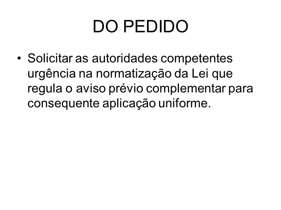 DO PEDIDO
