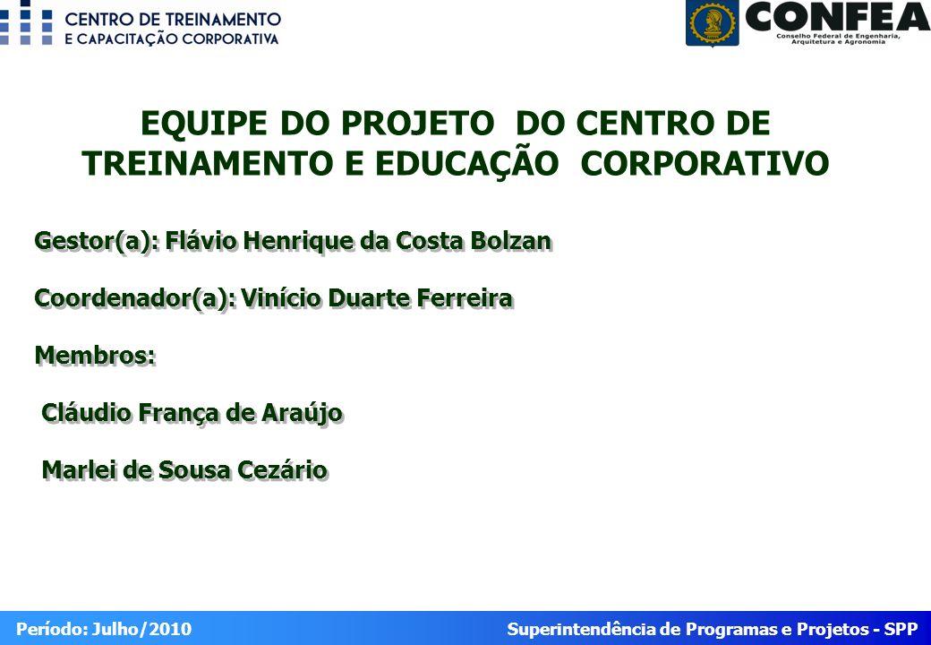 EQUIPE DO PROJETO DO CENTRO DE TREINAMENTO E EDUCAÇÃO CORPORATIVO