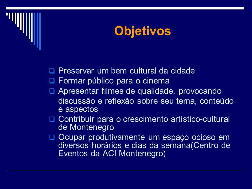 Objetivos Preservar um bem cultural da cidade